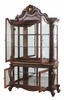 Picardy Cherry Oak Wood/Glass Curio Cabinet with Touch Light by Acme