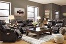 Signature Design Team Time Chocolate Power Recliner Loveseat by Ashley