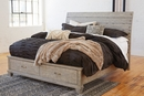 Benchcraft Naydell Rustic Gray Wood King Storage Bed by Ashley
