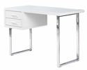 Candy White Wood/Silver Metal Computer Desk by Best Master Furniture
