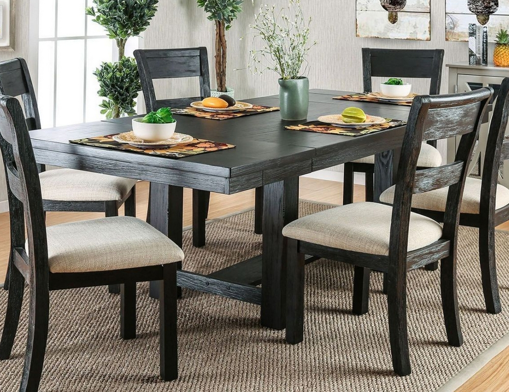 Thomaston Black Dining Table Oversized By Furniture Of America