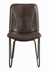 Sherman 4 Brown Leatherette/Black Metal Side Chairs by Coaster