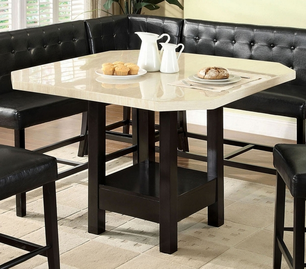 Bahamas Counter Height Table w/Faux Marble Top by Furniture of America