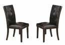 Balbina 2 Cappuccino Vinyl/Wood Side Chairs by Milton Greens Stars