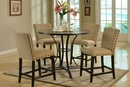 Atalanta Wire Brush Driftwood Wood Counter Height Table by Asia Direct