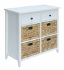 Flavius White Wood Accent Cabinet with 6 Drawers by Acme