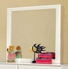 Prismo Mirror with White Wood Frame by Furniture of America