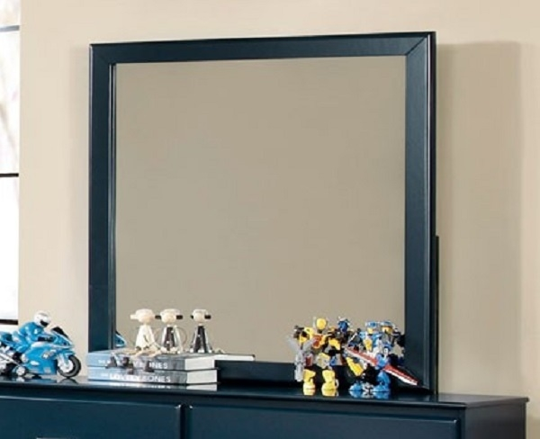 Prismo Mirror with Blue Wood Frame by Furniture of America