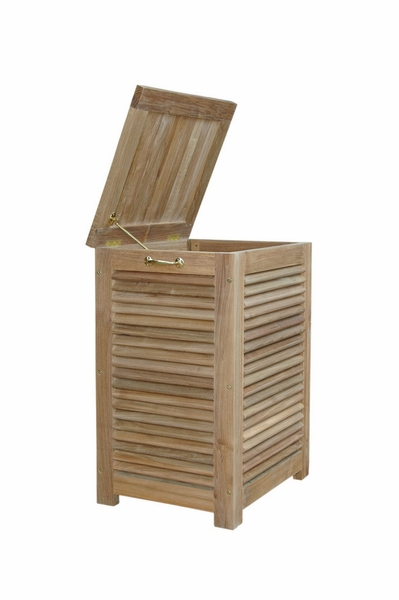 Amberly Natural Finish Laundry Box by Anderson Teak