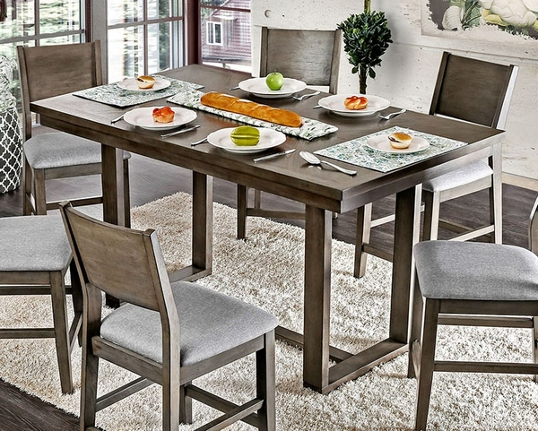 Anton Gray Wood Counter Height Table by Furniture of America