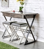 Glasby Weathered Gray Metal Wine Bar Table by Furniture of America
