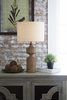 Signature Design Madelief Brown Poly Table Lamp by Ashley