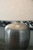 Signature Design Magalie Antique Silver Metal Table Lamp by Ashley