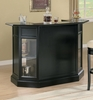 Inwood Contemporary Black Wood Bar Unit by Coaster