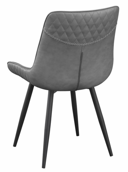 Bellance 2 Grey Leatherette/Black Metal Side Chairs by Coaster