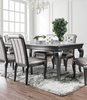 Amina Gray Wood Dining Table w/Glass Inserts by Furniture of America
