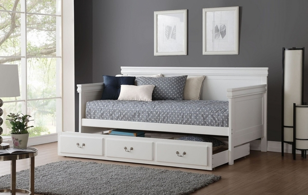 Bailee White Wood Twin Daybed by Acme