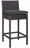 Convene Espresso/Charcoal Pe Rattan Outdoor Patio Bar Stool by Modway