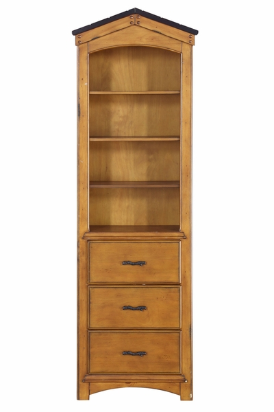 Tree House Rustic Oak Wood Bookcase Cabinet by Acme