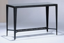 Clover Clear Glass/Black Metal Sofa Table by Asia Direct