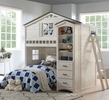Tree House Weathered White/Washed Gray Wood Bookcase Cabinet by Acme