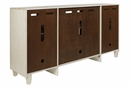 Signature Design Deanford Antique White Wood Accent Cabinet by Ashley