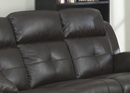 Troy 3-Piece Espresso Leather Power Recliner Sofa Set by AC Pacific