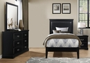 Seabright 4-Pc Black Wood Twin Bedroom Set by Homelegance