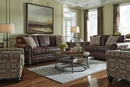 Benchcraft Breville Espresso Faux Leather Sofa (Oversized) by Ashley