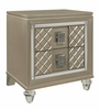 Loudon Champagne Metallic Wood Youth Nightstand by Homelegance