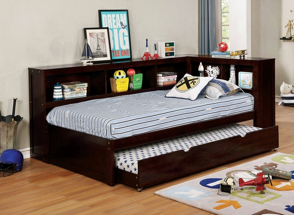 Frankie Espresso Wood Twin Daybed (Oversized) by Furniture of America