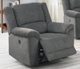 Candy Slate Velvet Fabric Power Recliner with USB by Poundex