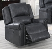 Sherilyn Black Leather-Like Fabric Power Recliner by Poundex