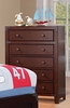 Leo Espresso Wood 5-Drawer Chest by Asia Direct