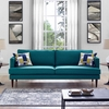 Agile Teal Upholstered Fabric 2-Seat Sofa by Modway