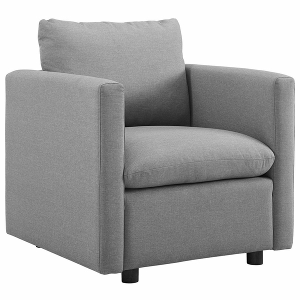 Activate Light Gray Fabric Armchair by Modway