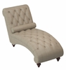 Bonne Brown Fabric Button Tufted Chaise by Homelegance