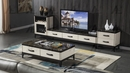 Alia Black Faux Marble/Wood Wine Cabinet by American Eagle Furniture