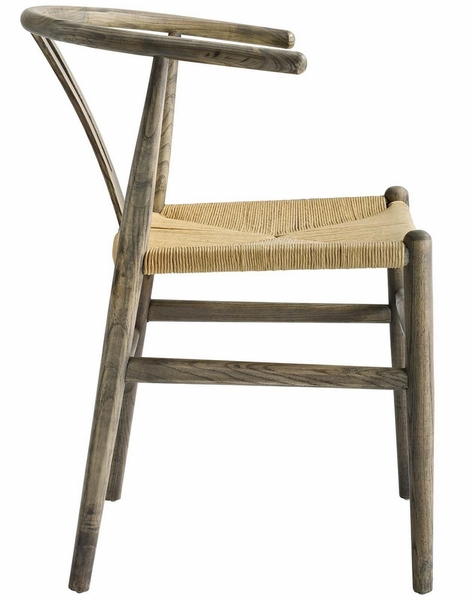 Amish Weathered Gray Wood Side Chair by Modway