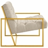 Bequest Beige Fabric Button Tufted Accent Chair by Modway