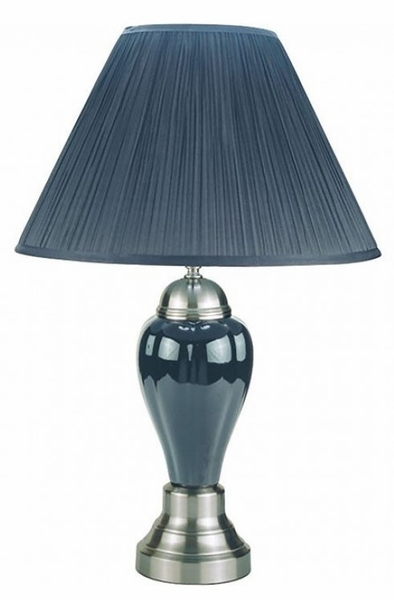Hanna 6 Brilliant Gray Ceramic Table Lamps by Furniture of America