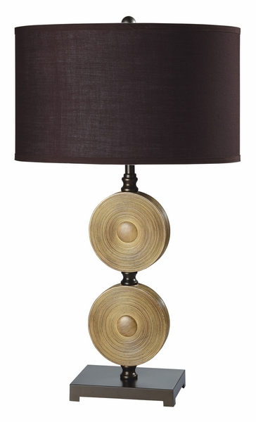 Suzy 2 Table Lamps w/Light Caramel Metal Bases by Furniture of America