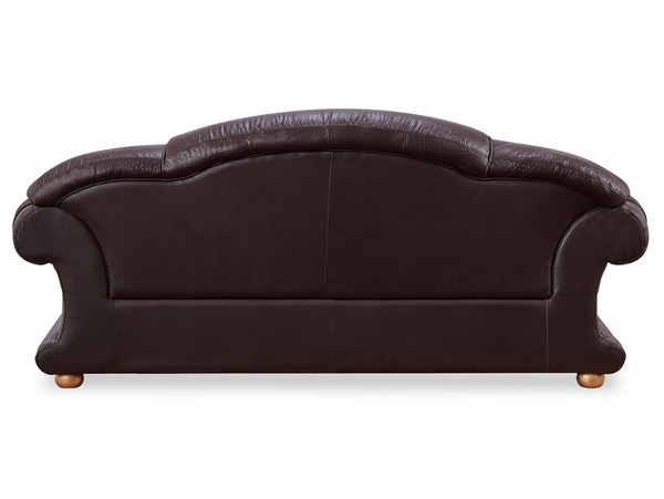 Apolo Brown Genuine Italian Leather Sofa by ESF