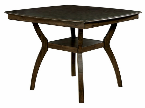 Flick Rustic Oak Wood Counter Height Table by Furniture of America