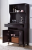 Topsy Red Cocoa Wood Baker's Cabinet with Drawer & Shelves by ID USA