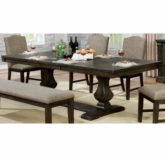 Faulk Espresso Wood Extendable Dining Table By Furniture Of America