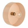 Mokhtar Blush Metal Round Wall Sconce by TOV Furniture