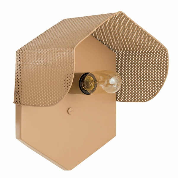 Mokhtar Tan Metal Hexagon Wall Sconce by TOV Furniture