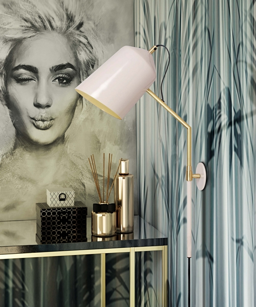 Zaphire Blush Metal Wall Sconce by TOV Furniture