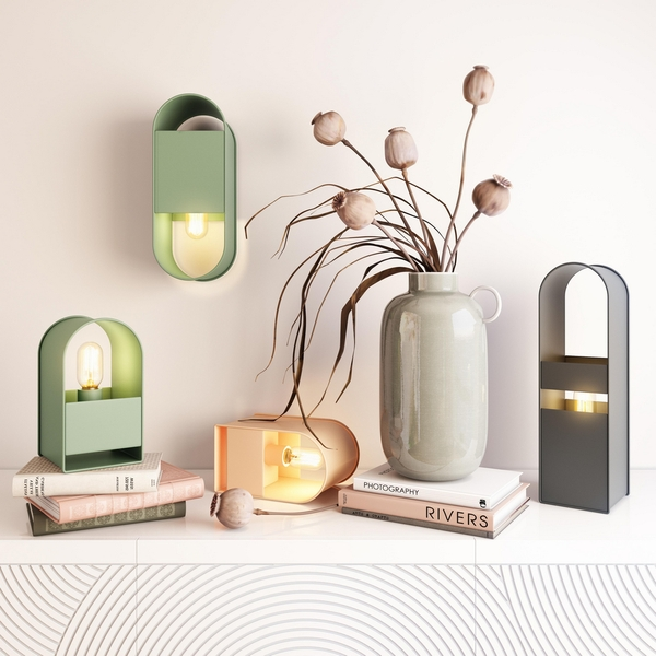 Arther Green Metal Table Lamp by TOV Furniture